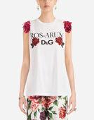 Dolce&Gabbana SLEEVELESS COTTON T-SHIRT