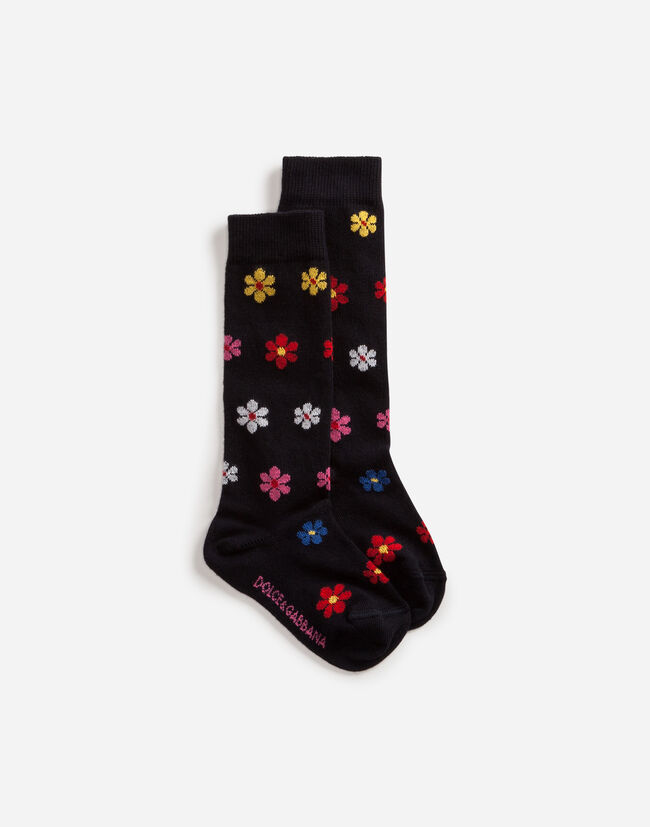 Dolce & Gabbana COTTON SOCKS WITH DECORATIONS