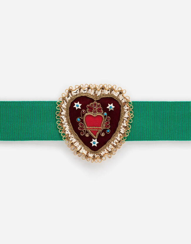 BELT WITH DECORATIVE PATCH