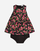 PRINTED COTTON DRESS WITH BLOOMERS