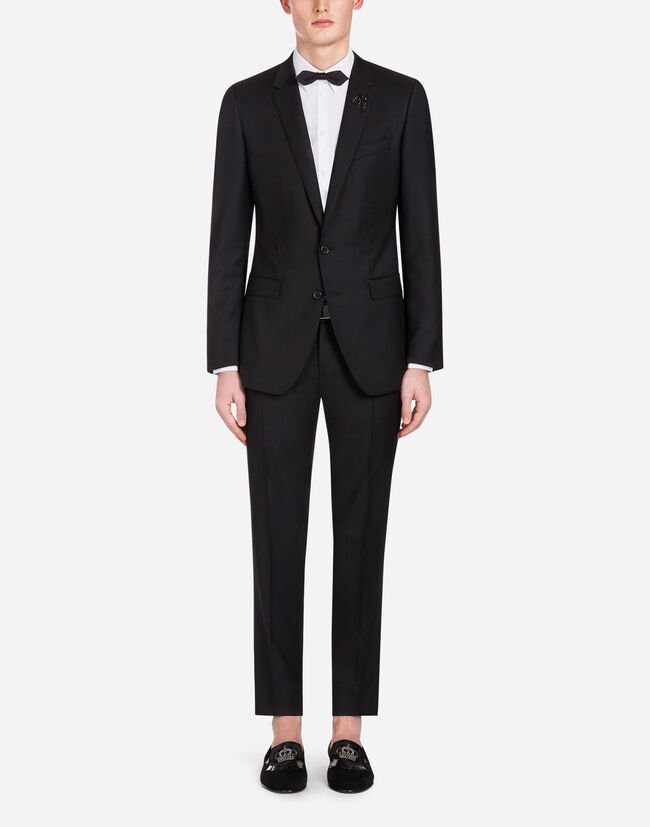 Dolce&Gabbana JACQUARD WOOL MARTINI SUIT WITH PATCH