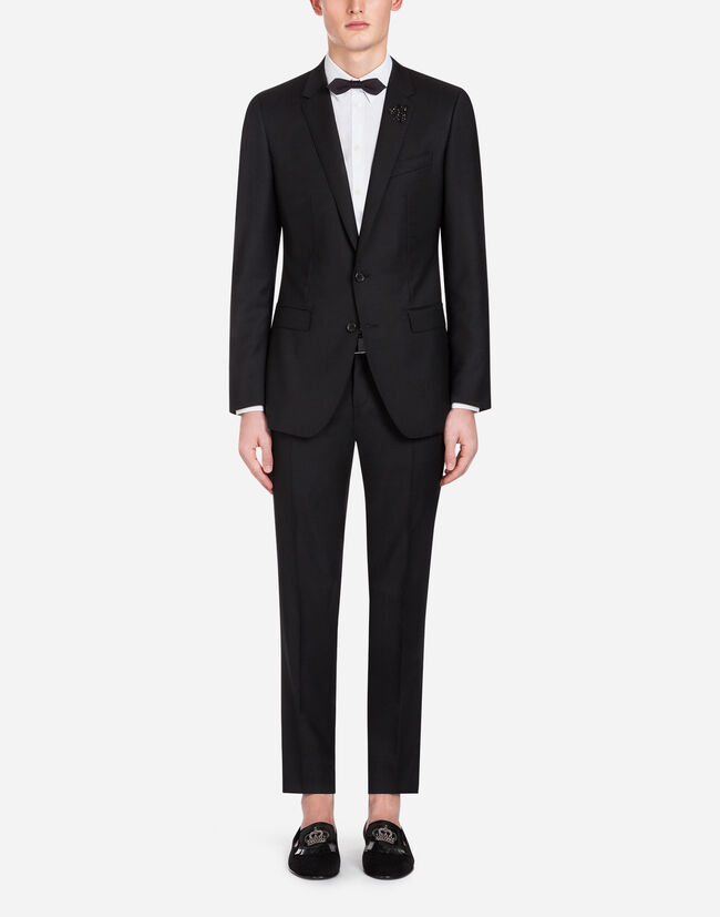 2aff4ab7f248 Men's Suits | Dolce&Gabbana - JACQUARD WOOL MARTINI SUIT WITH PATCH