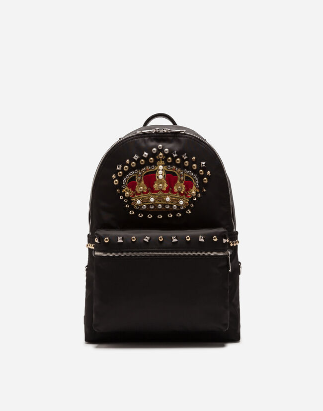 NYLON VULCANO BACKPACK WITH CROWN PATCH