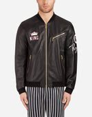 Dolce&Gabbana LEATHER JACKET WITH PATCH
