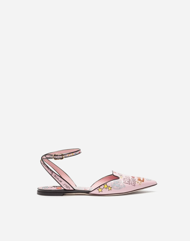 SLINGBACK IN PRINTED PATENT LEATHER