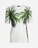 T-SHIRT IN PRINTED COTTON