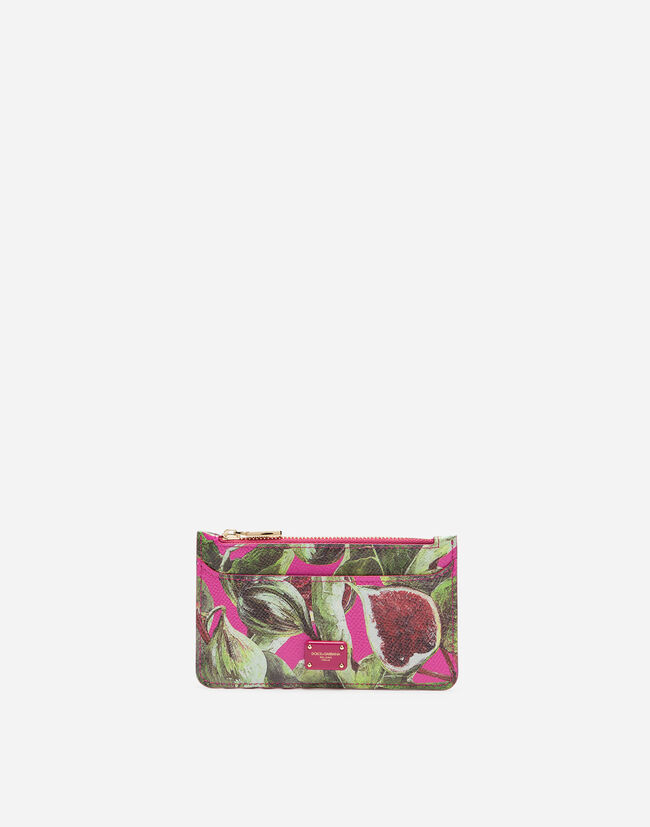 Dolce&Gabbana CREDIT CARD HOLDER IN PRINTED DAUPHINE CALFSKIN