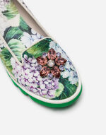 PRINTED BROCADE SLIPPERS WITH CRYSTALS