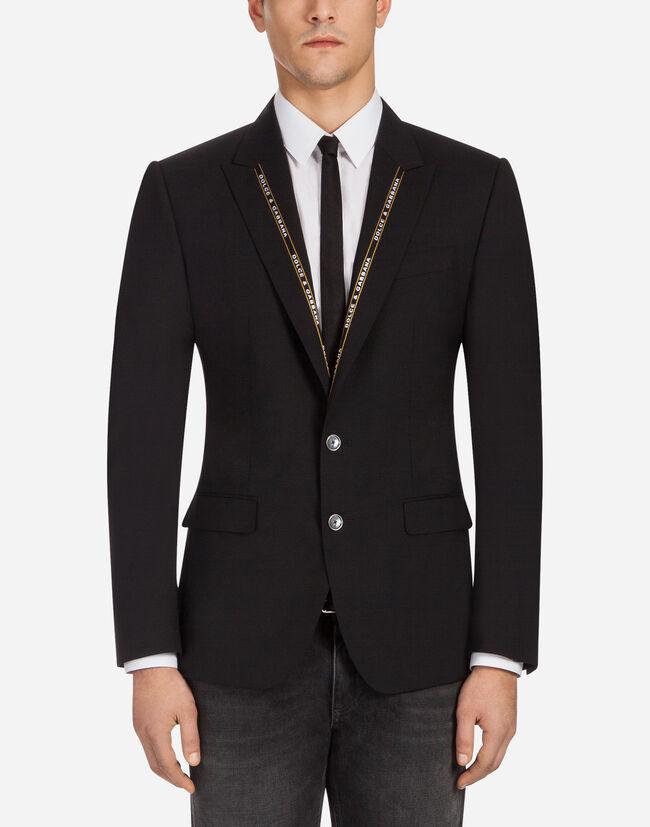 Dolce & Gabbana SICILIA FIT BLAZER IN STRETCH WOOL