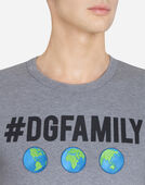 T-SHIRT IN #DGFAMILY PRINTED COTTON WITH PATCH