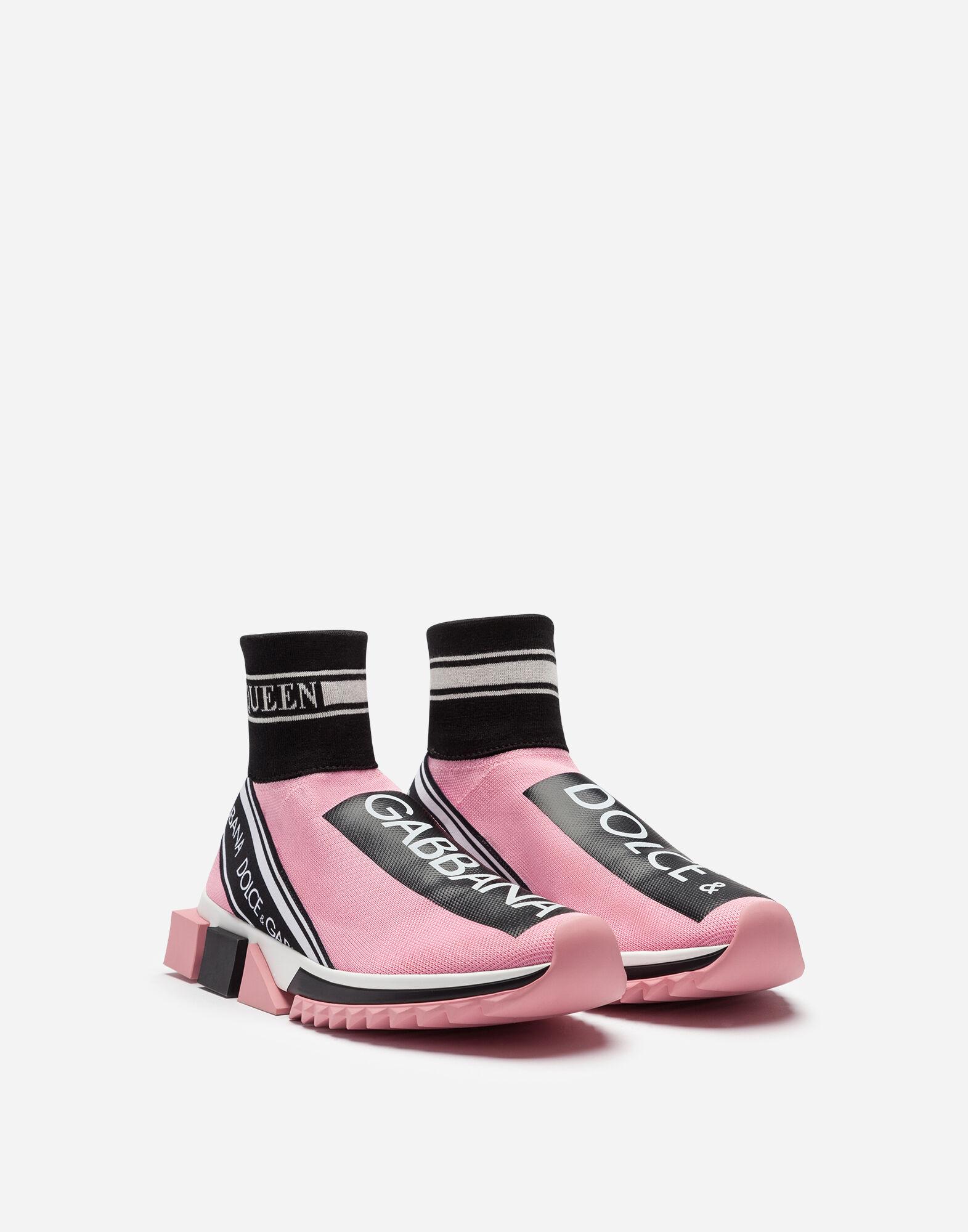 Sneakers für Damen | Dolce&Gabbana KNÖCHELHOHE SNEAKER SORRENTO AUS STRICKSTRETCH MIT LOGO
