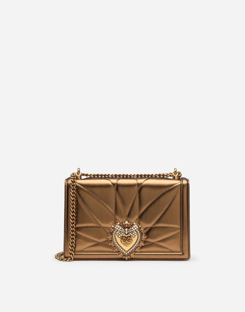Dolce Gabbana SAC DEVOTION GRAND FORMAT EN CUIR NAPPA MORDORÉ MATELASSÉ 858328966d95
