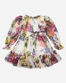 Dolce&Gabbana DRESS IN PRINTED CHIFFON
