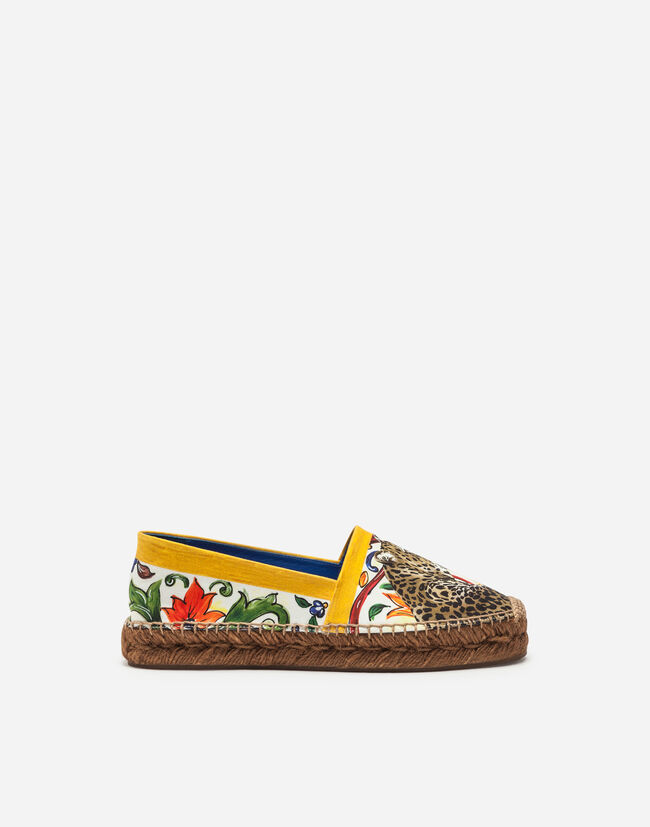 ESPADRILLES IN PRINTED COTTON