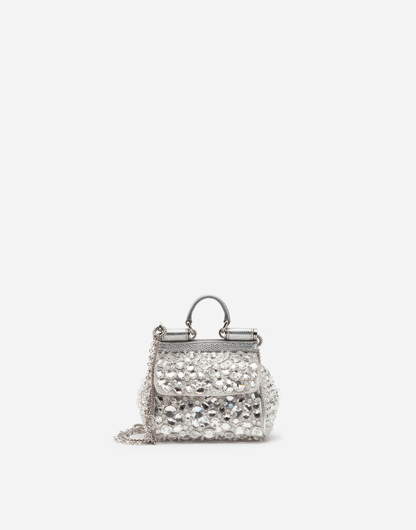 09c1b49e7e6 Dolce Gabbana MICRO SICILY BAG IN SATIN WITH EMBROIDERIES. Available Size.  OneSize. quick shop Add to Wishlist