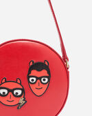Dolce&Gabbana LEATHER CROSS BODY BAG WITH DESIGNERS' PATCHES