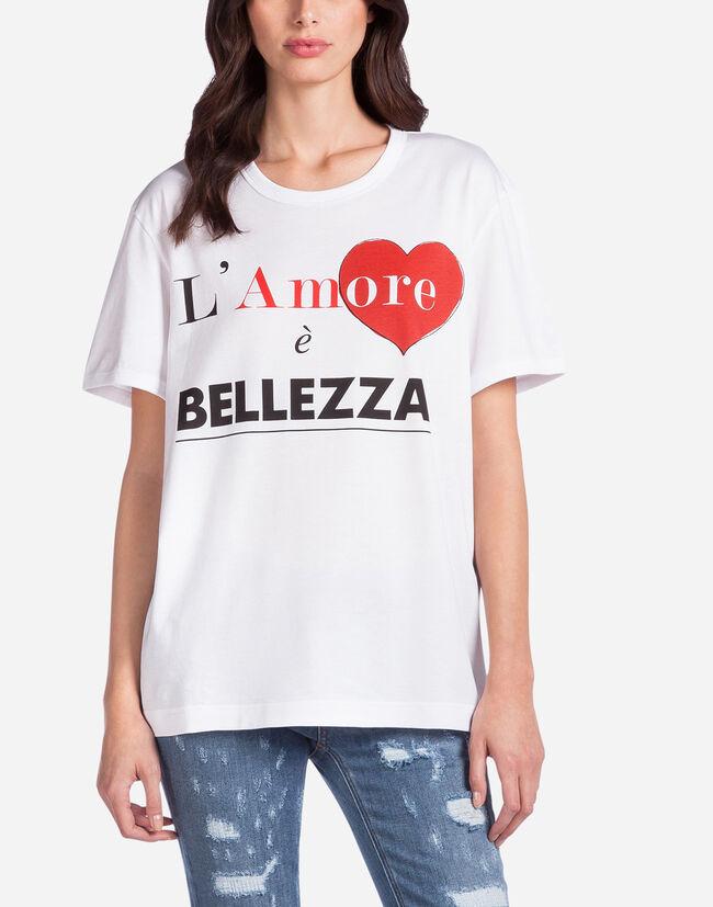L 39 amore bellezza t shirt women dolce gabbana for Dolce gabbana t shirt women