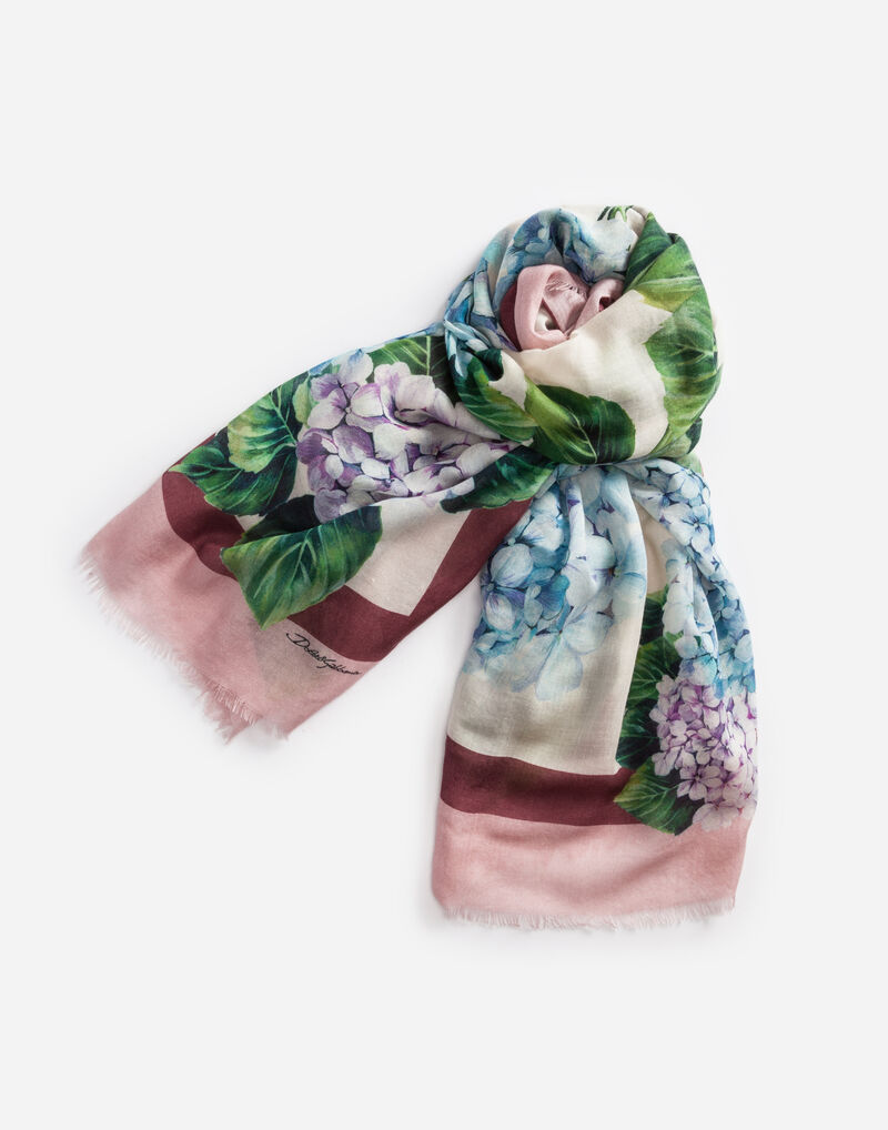 PRINTED CASHMERE SCARF 140 X 140