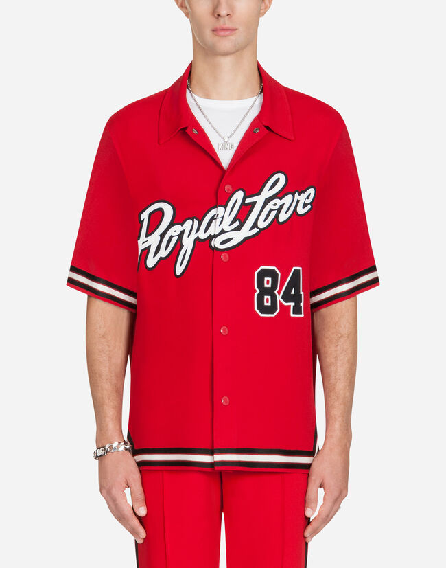 Dolce&Gabbana SWEATSHIRT IN CADY JERSEY WITH PATCH