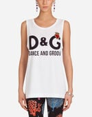 PRINTED COTTON TANK TOP