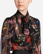 PRINTED SILK BLOUSE