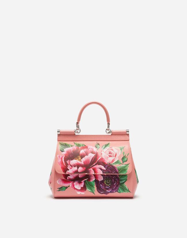 Dolce&Gabbana MEDIUM SICILY BAG IN PRINTED DAUPHINE CALFSKIN