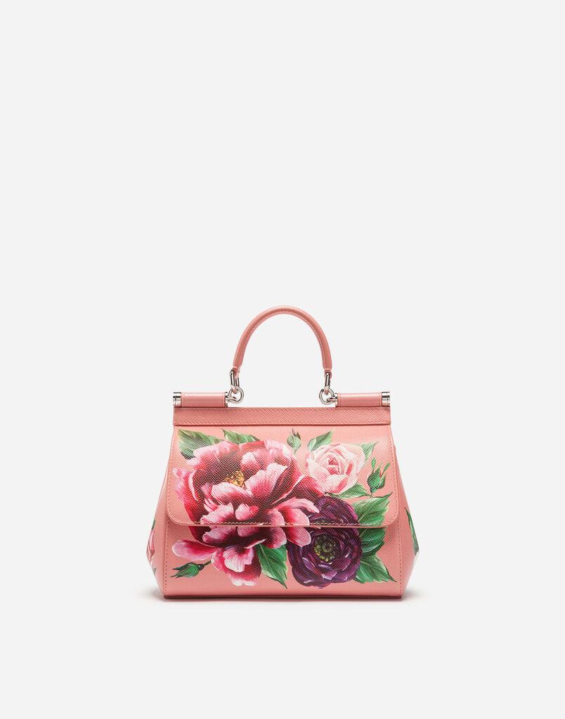 a5ce4435136a Dolce Gabbana MITTELGROSSE TASCHE SICILY AUSBEDRUCKTEM DAUPHINE-KALBSLEDER
