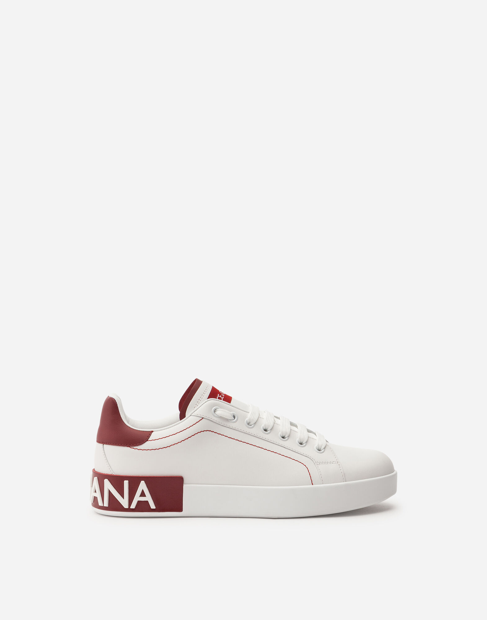 Calfskin Nappa Portofino Sneakers, White