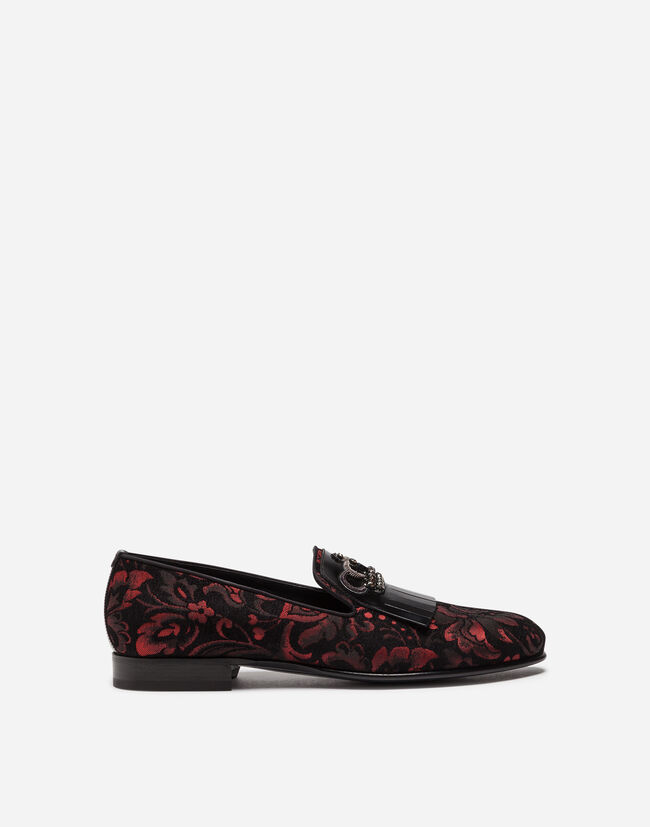 Dolce&Gabbana JACQUARD LOAFERS WITH FRINGE