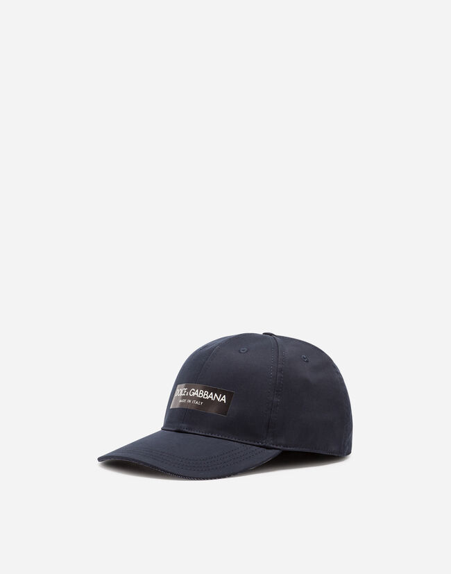COTTON BASEBALL CAP WITH PATCH