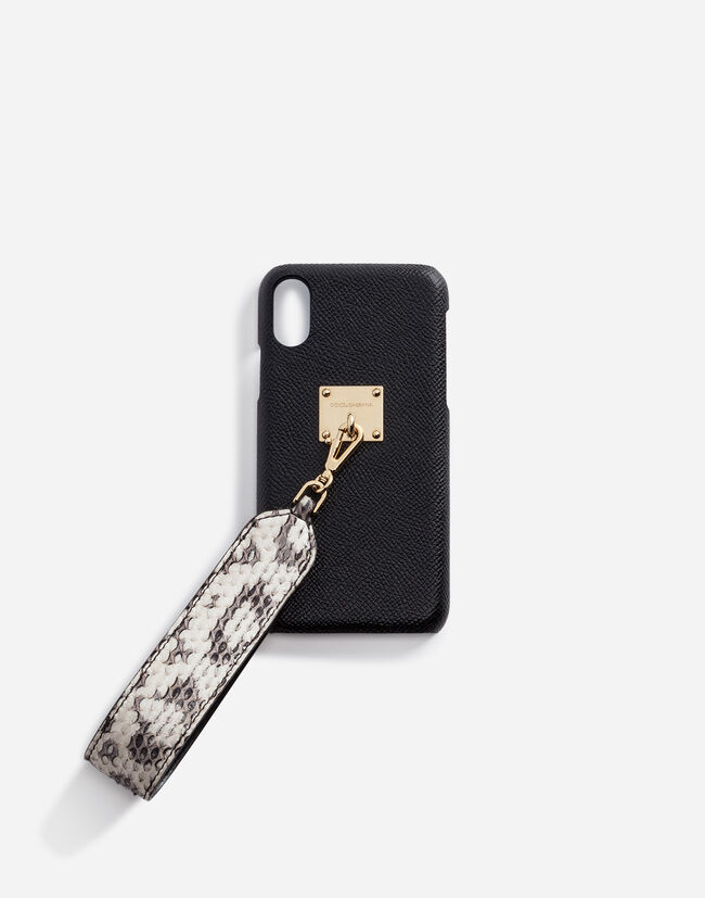 IPHONE X COVER WITH AYERS SNAKESKIN BRACELET ATTACHMENT