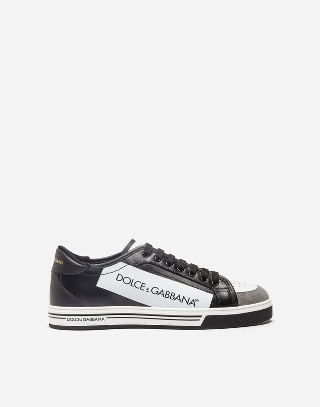 79769dc4592 Roma Sneakers In Coated Canvas And Calfskin - Men
