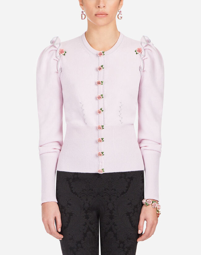CASHMERE EMBROIDERED JACKET