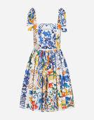 Dolce&Gabbana MAJOLICA-PRINT SUNDRESS