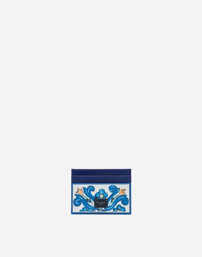 Dolce&Gabbana PRINTED DAUPHINE CALFSKIN CARD HOLDER