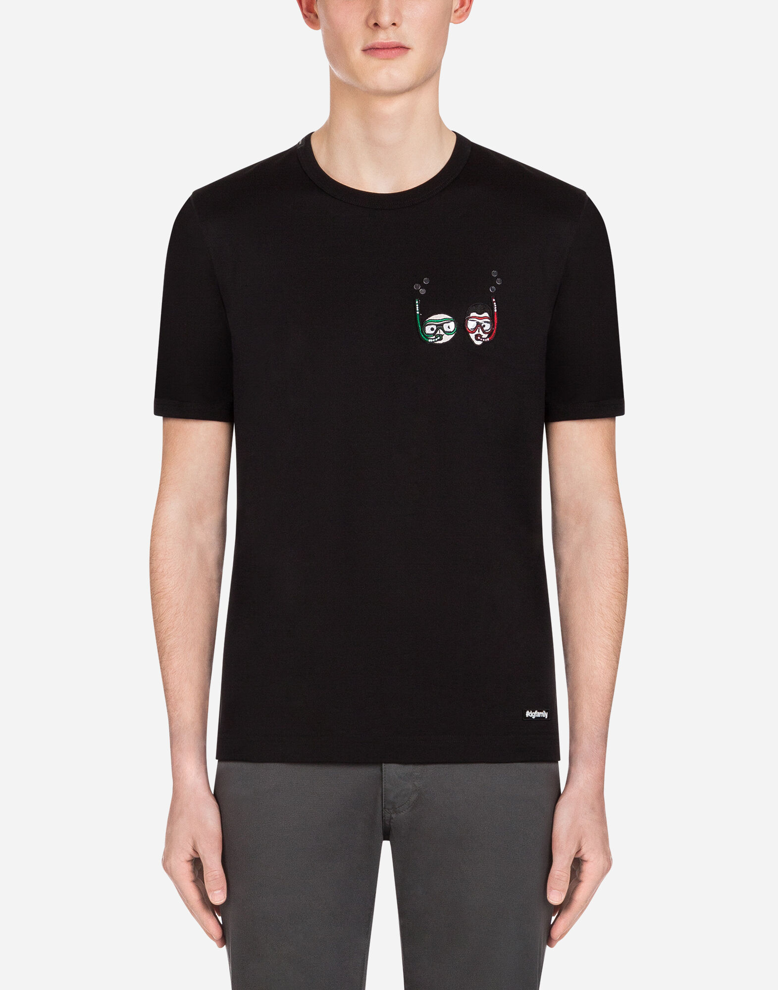 COTTON T-SHIRT WITH PATCHES from DOLCE & GABBANA