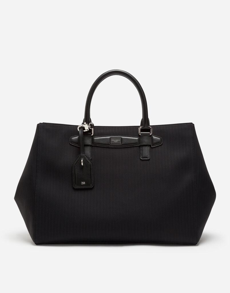 Dolce Gabbana Nylon Tweed Ping Handheld Bag