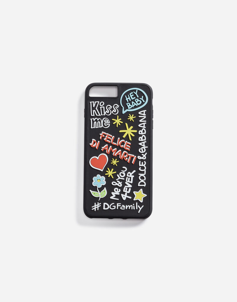 IPHONE 7/8 PLUS COVER WITH RUBBER MURAL DETAIL