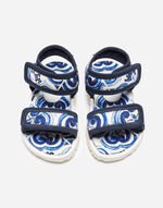 KID'S FIRST STEPS SANDALS IN PRINTED NYLON