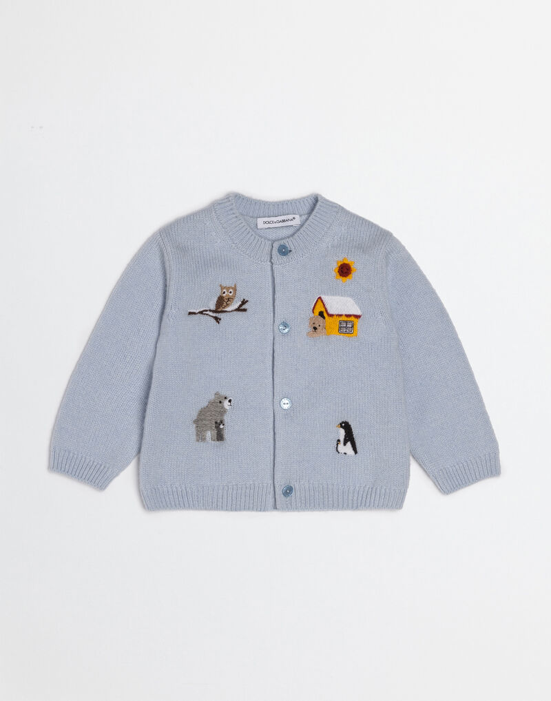 MIMMO THE DOG CARDIGAN IN CASHMERE