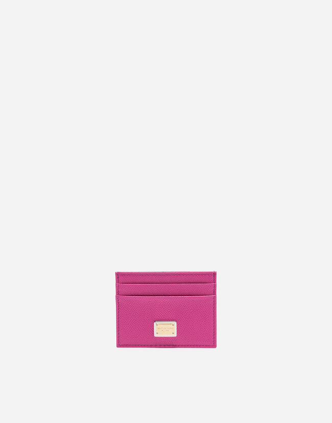 dauphine leather credit card holder - Pink Card Holder