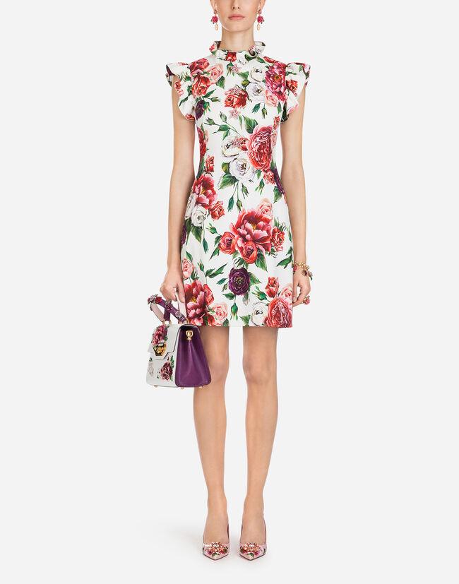 Dolce&Gabbana PEONY-PRINT CADY DRESS