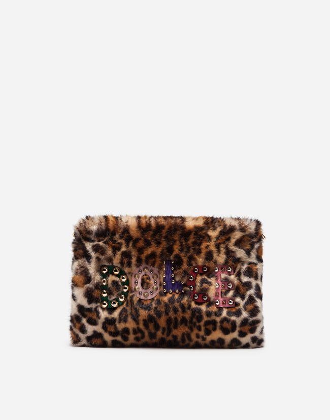 Dolce&Gabbana BAG IN LEOPARD PRINT FAUX FUR