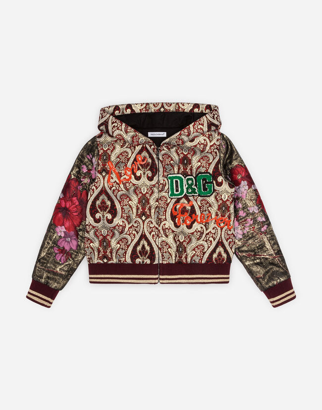 LUREX JACQUARD SWEATSHIRT WITH PATCH