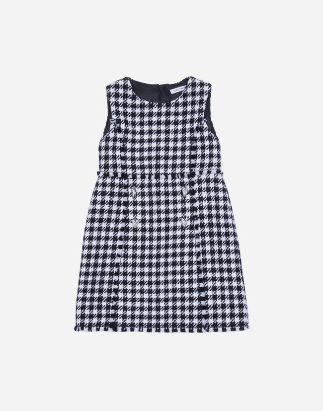 Dolce&Gabbana A-LINE DRESS IN HOUNDSTOOTH