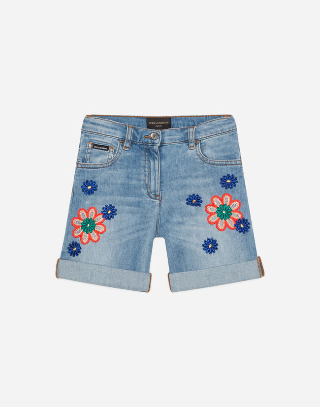 SHORT JEANS WITH EMBROIDERY