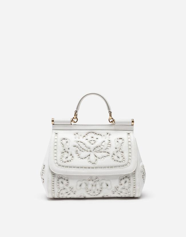 312f07ac986 Medium Sicily Bag in Inlaid Nappa - Women s Bags   Dolce Gabbana