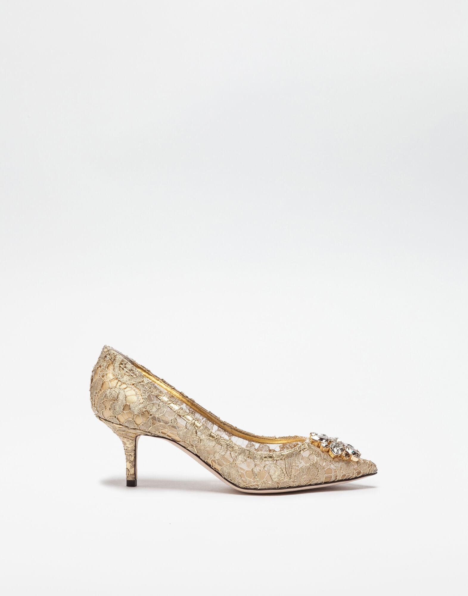 Dolce & Gabbana Woman Crystal-embellished Corded Lace Slides Coral Size 35.5 Dolce & Gabbana yhVWihuvR