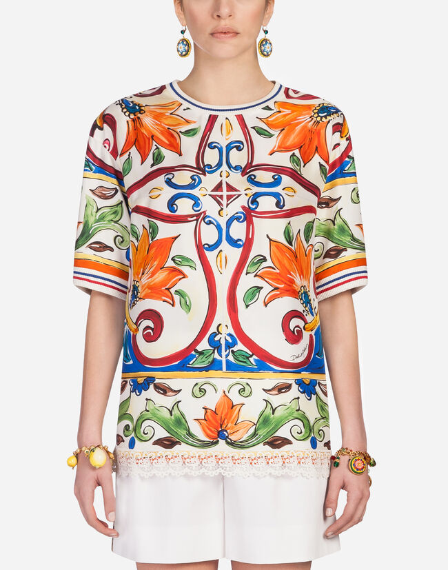 BLOUSE IN PRINTED SILK