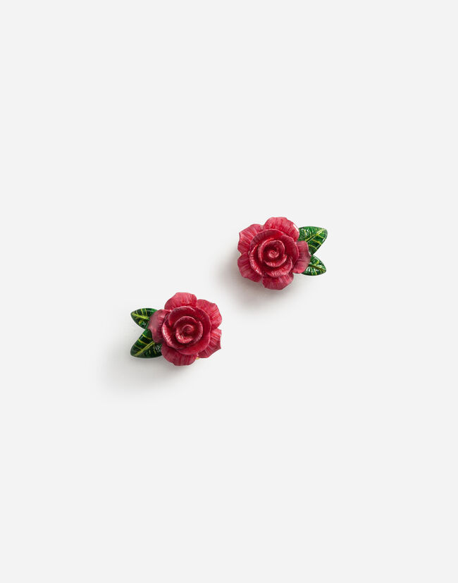 Dolce&Gabbana EARRINGS WITH ROSES